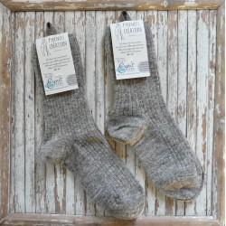 Chaussettes mi-longues fine / gris naturel