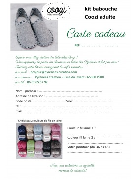 Carte cadeau - Authentique Coozi© adulte