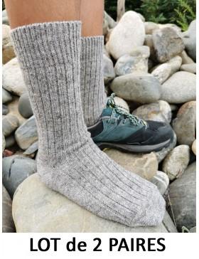 Lot - 2 paires / chaussettes grises