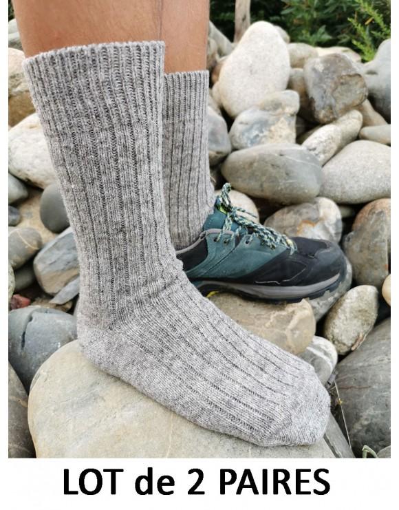 Chaussettes grises / mi-longues