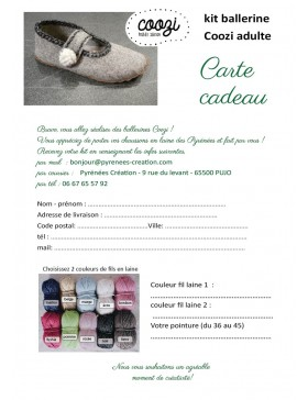 Carte cadeau - Ballerines Coozi©